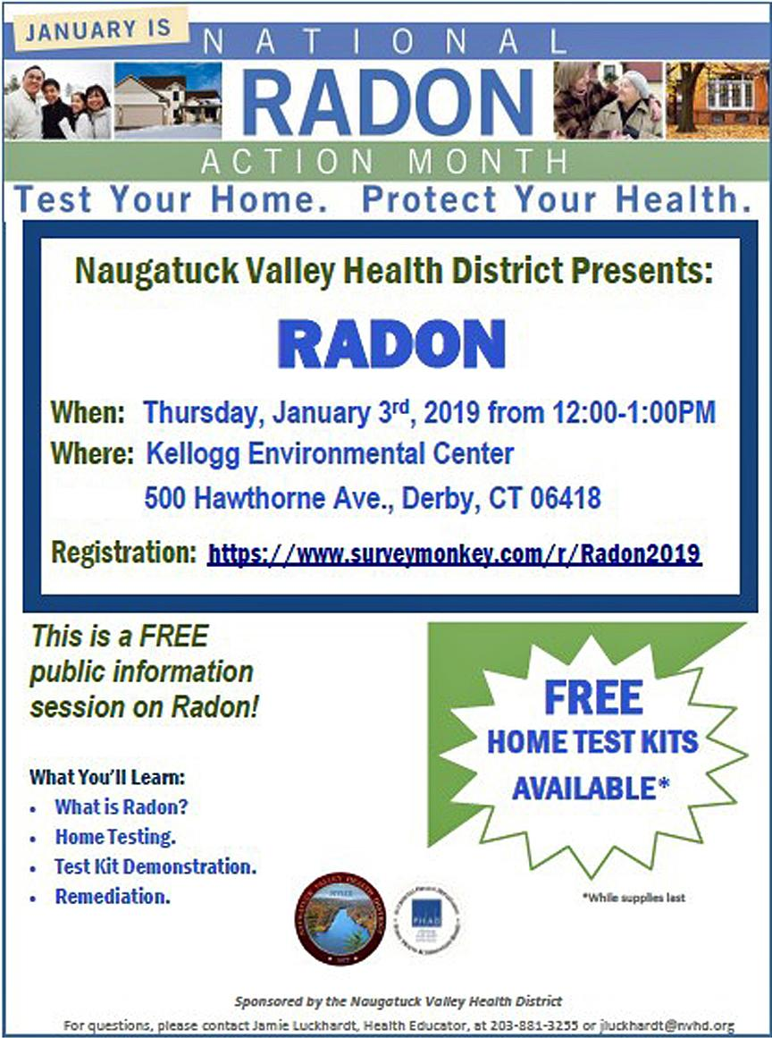 Radon training planned at Derby's Kellogg Center in January