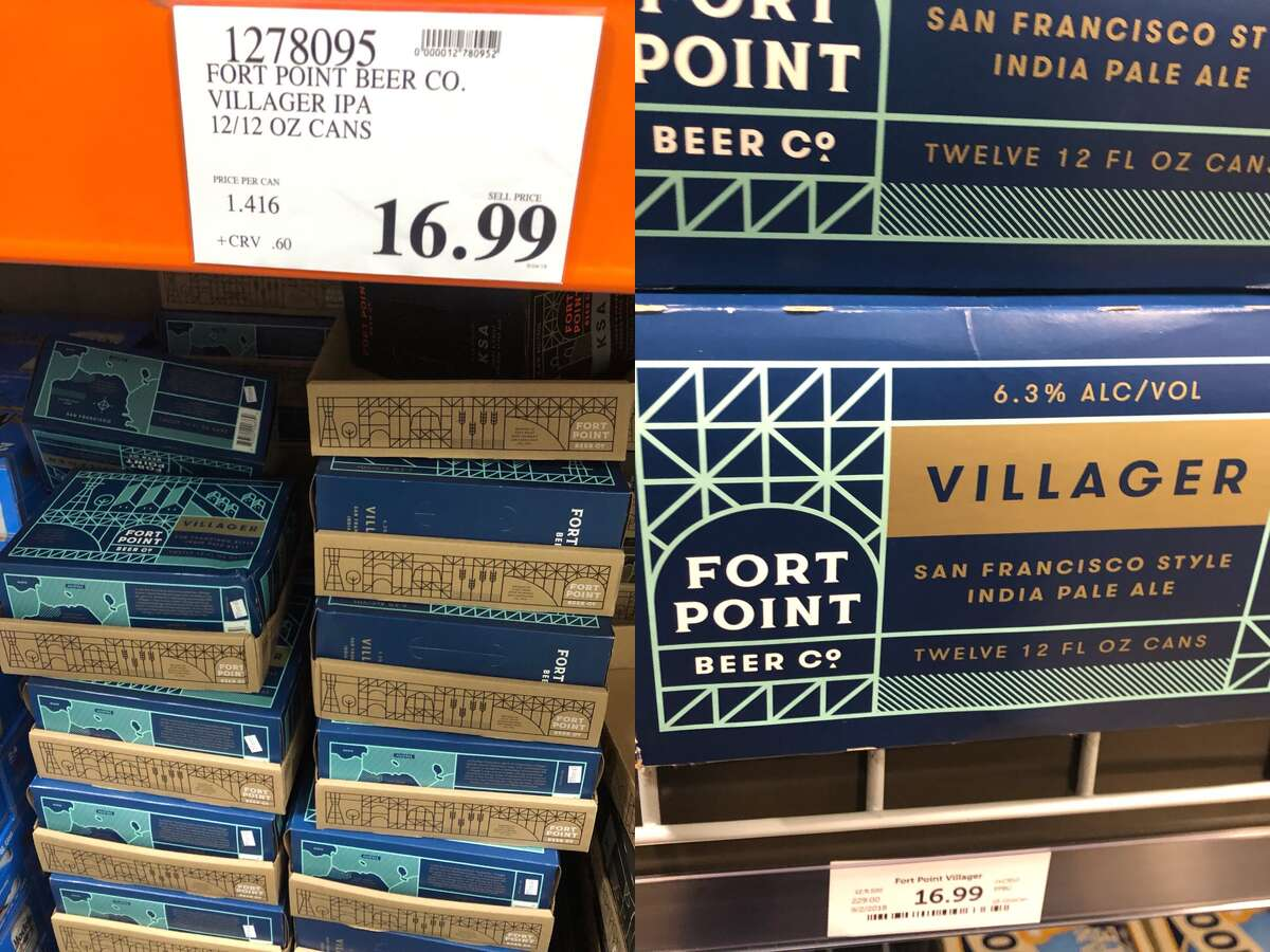 Fort Point Villager IPA: $16.99 for 12 12 oz. cans at Costco, $16.99 for 12 12 oz. cans at Total Wine & More.