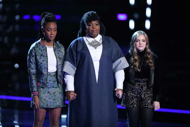 Sarah Grace, right, was eliminated during 'The Voice' semifinals.