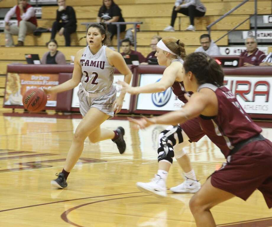 Vanessa Oyola set a new career-high in points scored for the second straight game pouring in 12 in her first ever start, but the Dustdevils lost 78-38 at Angelo State as they tied their worst start ever at 0-10. Photo: Courtesy Of TAMIU Athletics, File
