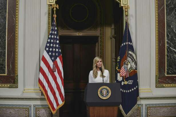 Ivanka Trump speaks during a meeting at the Executive Office Building in Washington, Oct. 11, 2018. Trump, the presidents daughter and White House adviser, said on Nov. 28, her use of a personal email account for government business was not the same as Hillary Clintons using a private email server, which the president and his supporters had long argued was illegal.
