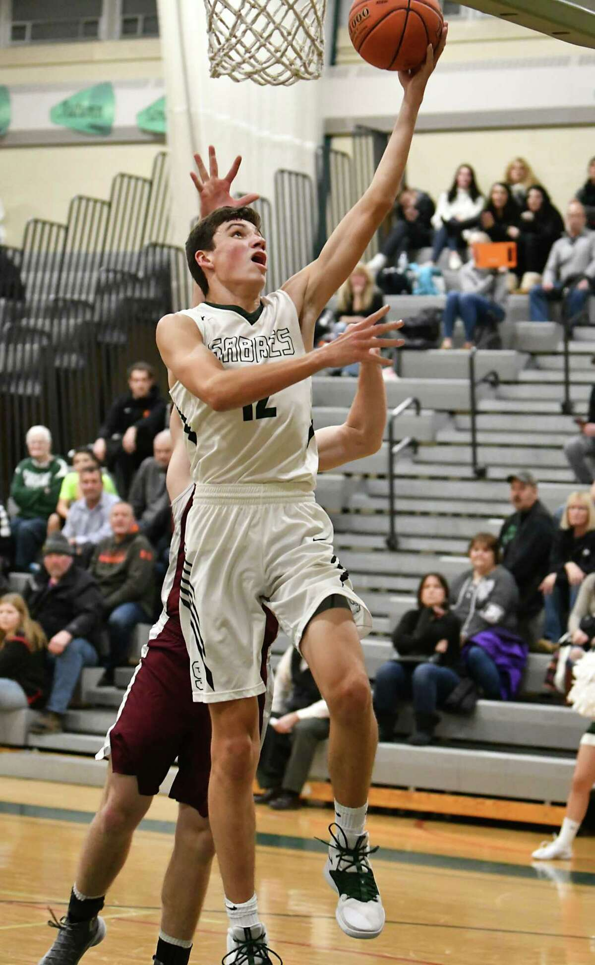 Schalmont's Nick Boyd makes a layup during a basketball game against Lansingburgh on Tuesday, Dec. 11, 2018 in Rotterdam, N.Y. (Lori Van Buren/Times Union)