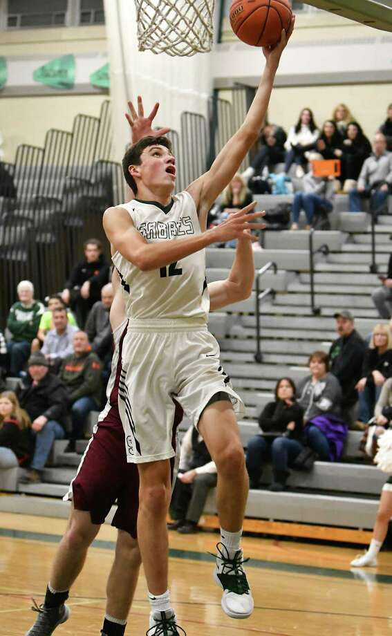 Schalmont's Nick Boyd makes a layup during a basketball game against Lansingburgh on Tuesday, Dec. 11, 2018 in Rotterdam, N.Y. (Lori Van Buren/Times Union) Photo: Lori Van Buren / 20045669A