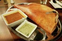 The Masala Dosa at Idli Dosa, 6811 Eastman Ave. in Midland. (Matthew Woods/for the Daily News)