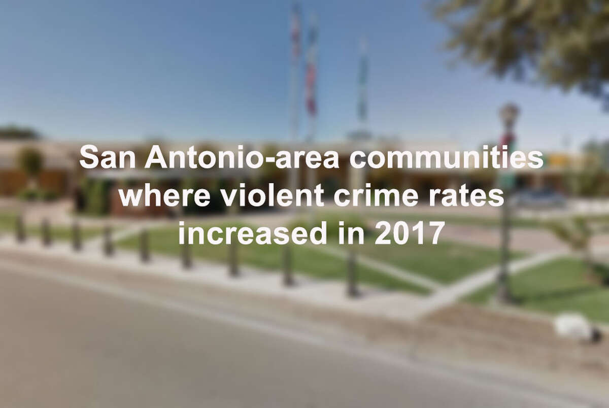 Click through the slideshow to see the San Antonio-area communities where crime increased in 2017.