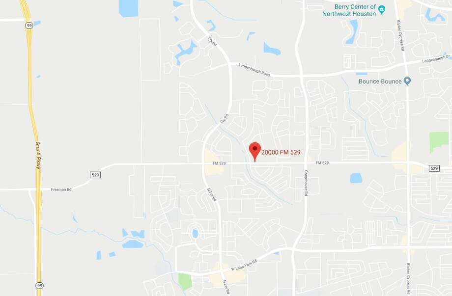 A woman died in a hit-and-run crash at 20000 FM 529 in Cypress on Wednesday, Dec. 12, 2018. Photo: Google Maps