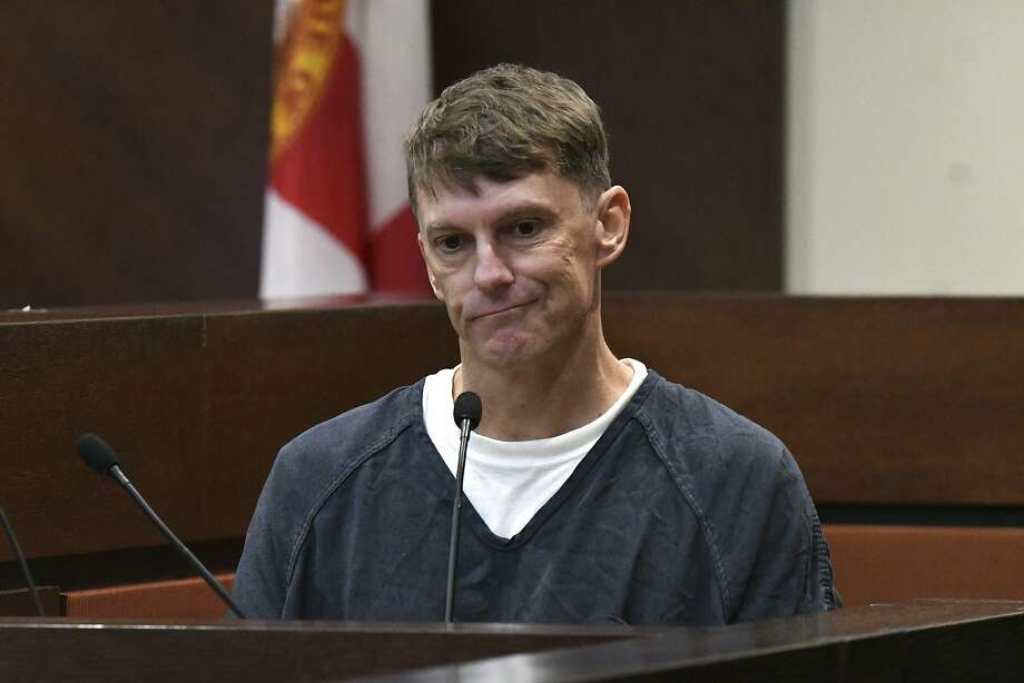 Brian Winchester, the man who shot and killed Mike Williams, struggles to pull together his thoughts to speak about what occurred on the day Mike Williams was killed during trial Tuesday, Dec. 11, 2018 in Tallahassee, Fla. The trial has begun for the Florida woman accused of helping orchestrate the death of her husband in order to secure a massive insurance payout. Prosecutors contended that Williams plotted the December 2000 slaying of her husband with a man that she was having an affair with and later married.  Photo: Alicia Devine, Associated Press