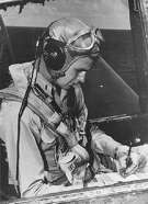 George H.W. Bush, seen in the 1940s, never forgot the fellow sailor who called in a submarine rescue after Bush crashed.