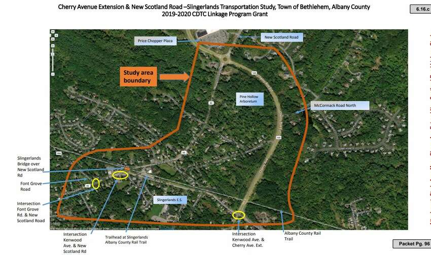 Bethlehem has applied for a grant to do a transportation study of Slingerlands, including New Scotland Road and Cherry Avenue Extension.