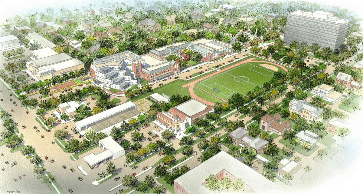 The additional 166,000-square-feet includes a new middle school building, leadership center, and underground parking garage.