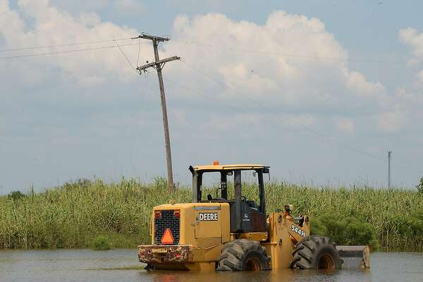 Areas throughout Orange County, including portions of the areas surrounding Texas 73 in Bridge City, remain underwater as water slowly recedes from last week's Tropical Storm Harvey historic and unprecedented rainfall. Photo taken Sunday, September 3, 2017 Kim Brent/The Enterprise