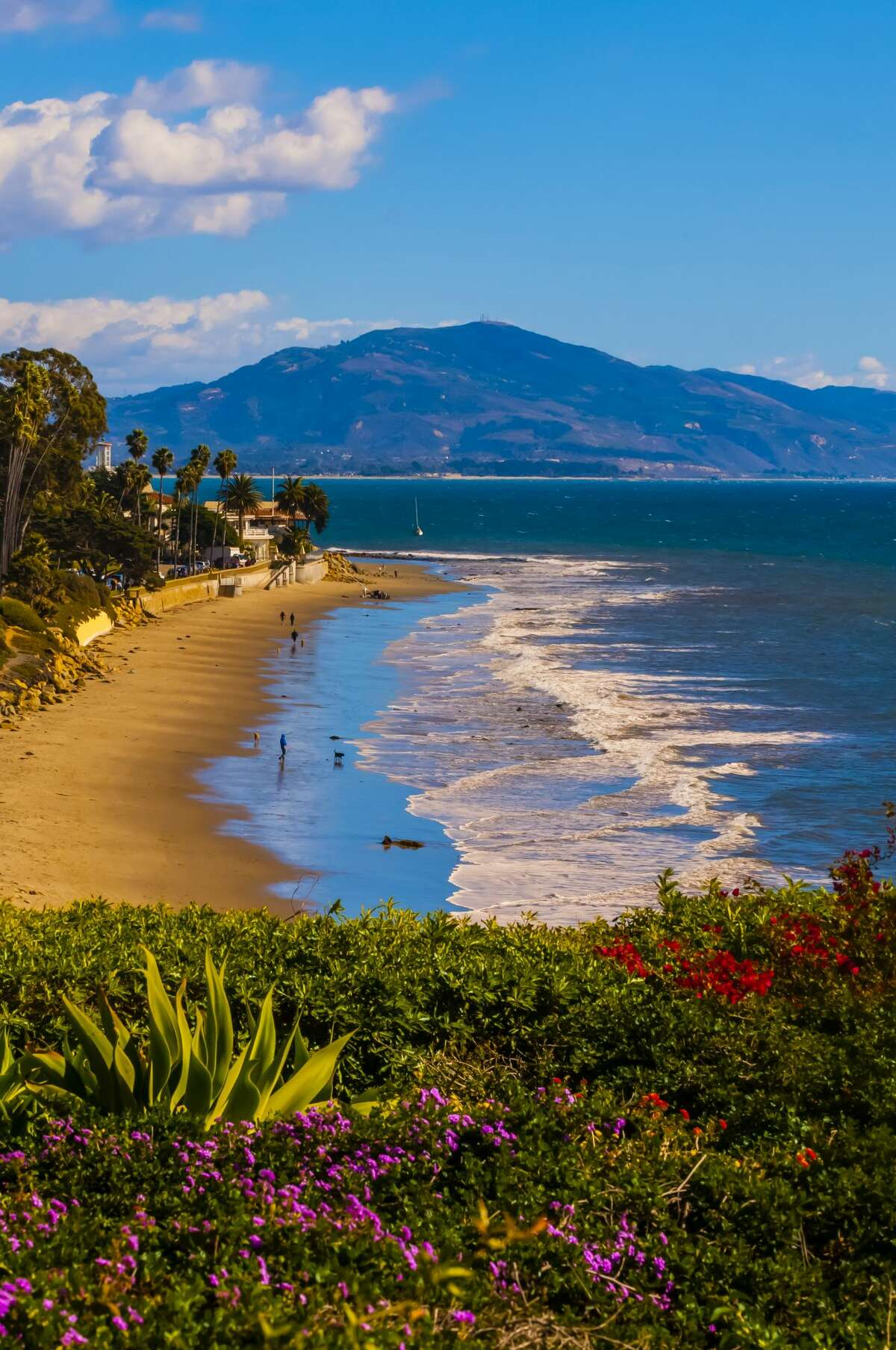 Butterfly Beach is a popular beach in Montecito frequented by locals and visitors alike.