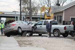A four-car wreck shut down Cupples Road in December 12, 2018.