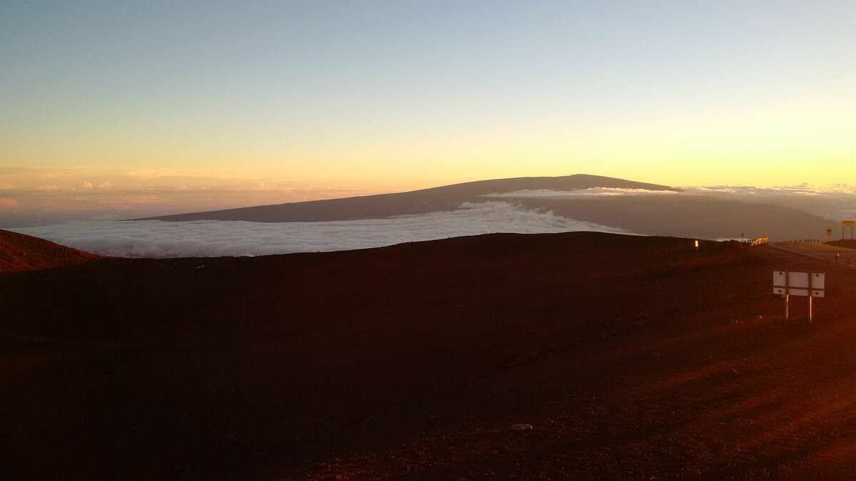Views from atop Hawaii's Mauna Kea, high above the heat of the island state's beaches and even above much of the lower atmosphere.
