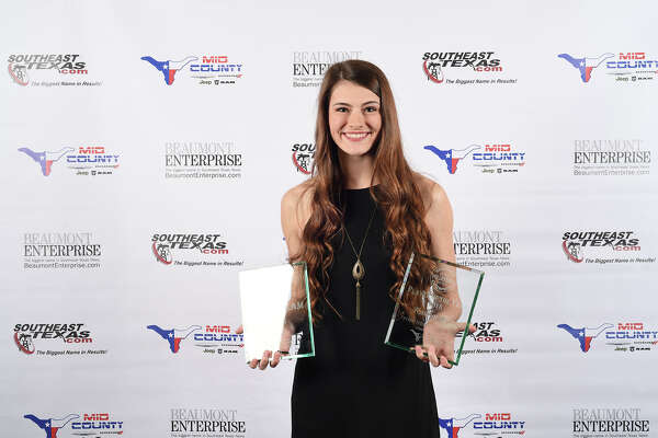 Port Neches-Grove's Kaitlyn Gil at the fall session of the 2018 Super Gold Awards Ceremony presented by Mid County Chrysler Dodge Jeep Ram Fiat. Photo taken Tuesday, 12/11/18