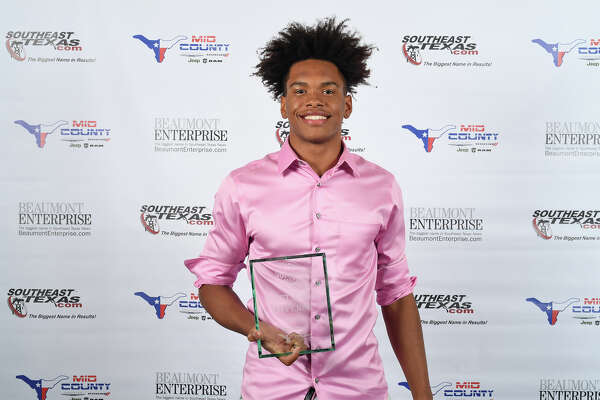 West Brook's Thaddeus Johnson at the fall session of the 2018 Super Gold Awards Ceremony presented by Mid County Chrysler Dodge Jeep Ram Fiat. Photo taken Tuesday, 12/11/18