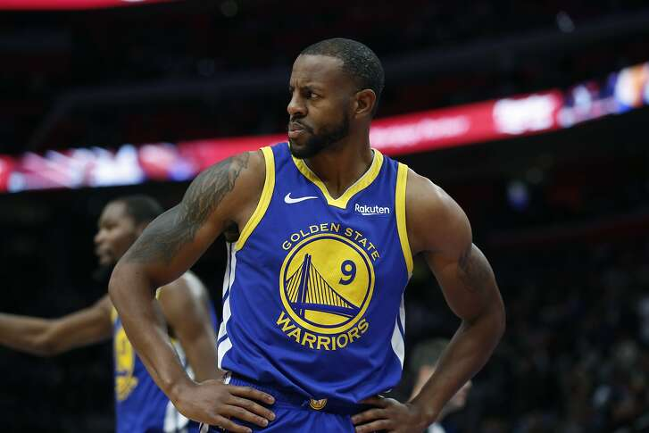 Golden State Warriors guard Andre Iguodala during the first half of an NBA basketball game, Saturday, Dec. 1, 2018, in Detroit. (AP Photo/Carlos Osorio)