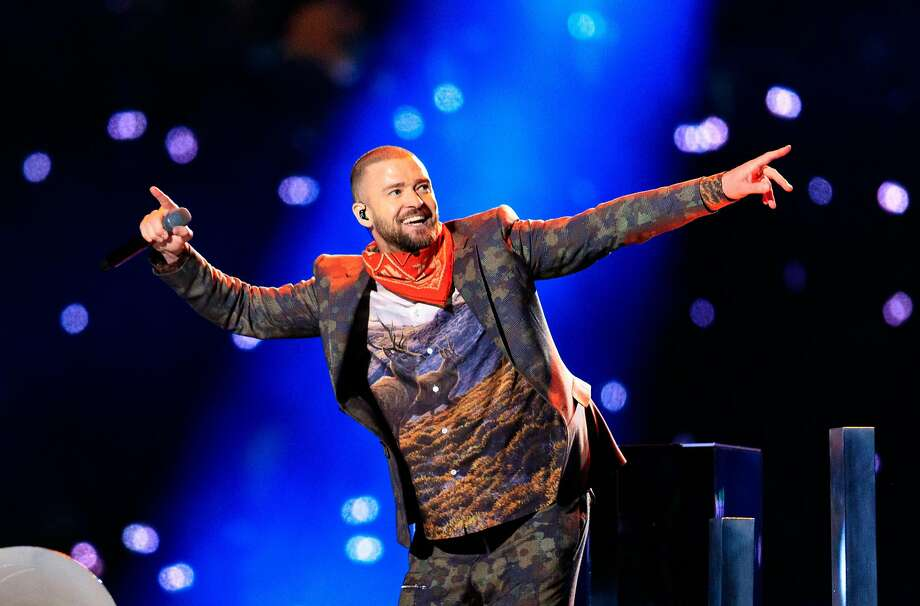 MINNEAPOLIS, MN - FEBRUARY 04:  Recording artist Justin Timberlake performs onstage during the Pepsi Super Bowl LII Halftime Show at U.S. Bank Stadium on February 4, 2018 in Minneapolis, Minnesota.  (Photo by Christopher Polk/Getty Images) Photo: Christopher Polk