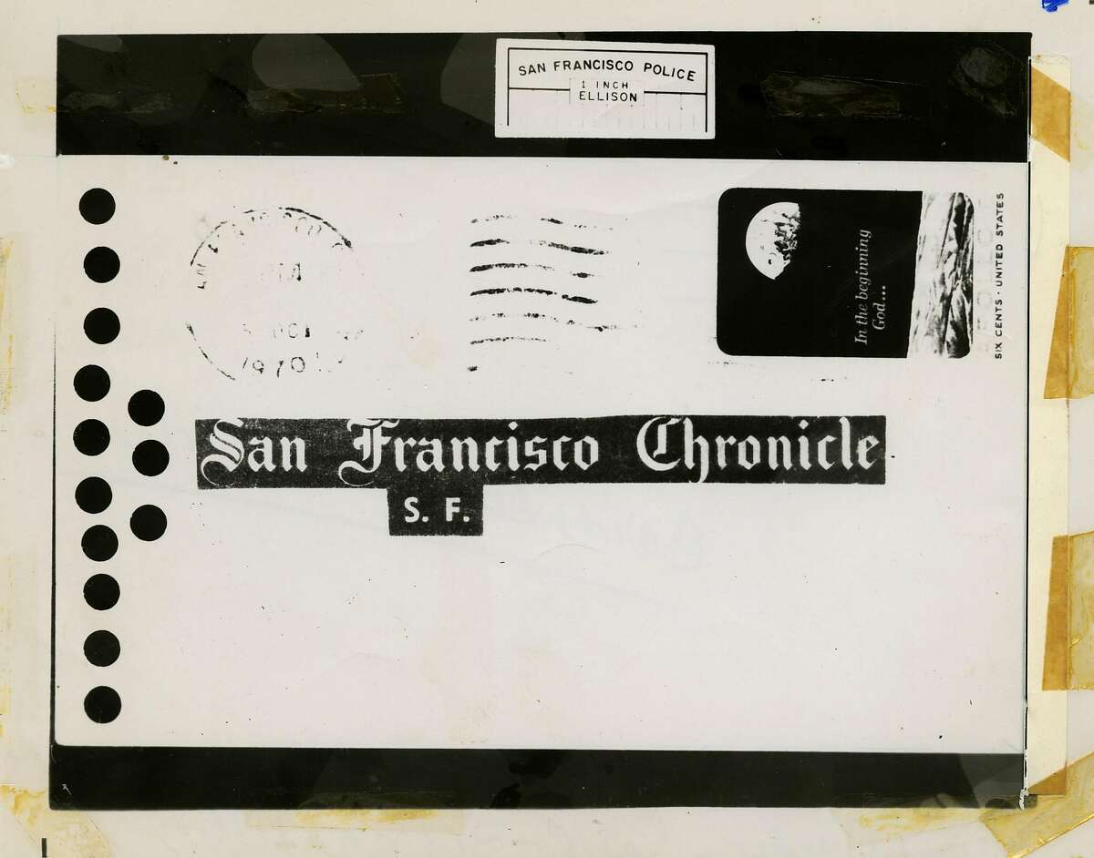 Zodiac killer card sent to the Chronicle on Oct.12, 1970 From the Chronicle archives Zodiac Letter
