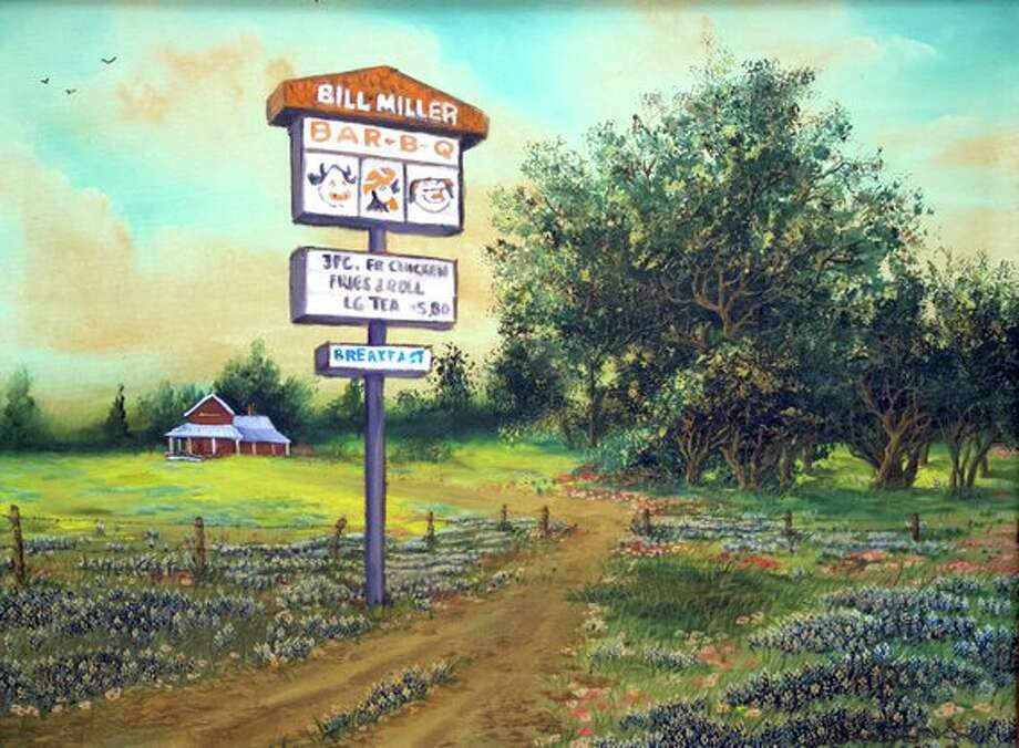 A San Antonio artist has created a six-piece restaurant series of watercolor paintings depicting popular Texas fast-food chains in idyllic landscapes. Photo: Courtesy Of Michael Esparza