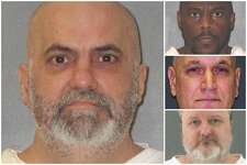 FILE - Photos of some of Texas' executed death row inmates in 2018.