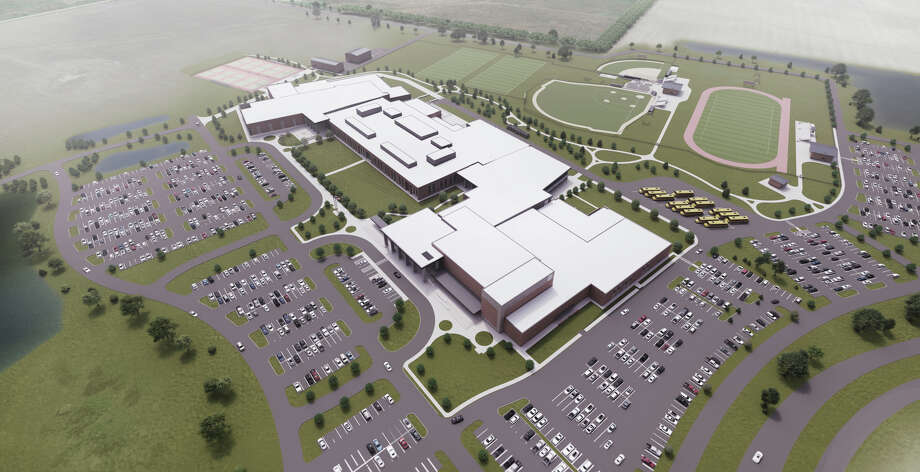 Alvin ISD released the location for and renderings of the district's fourth high school on Dec. 12, 2018. The school is scheduled to open to students by spring 2022. Photo: Alvin ISD