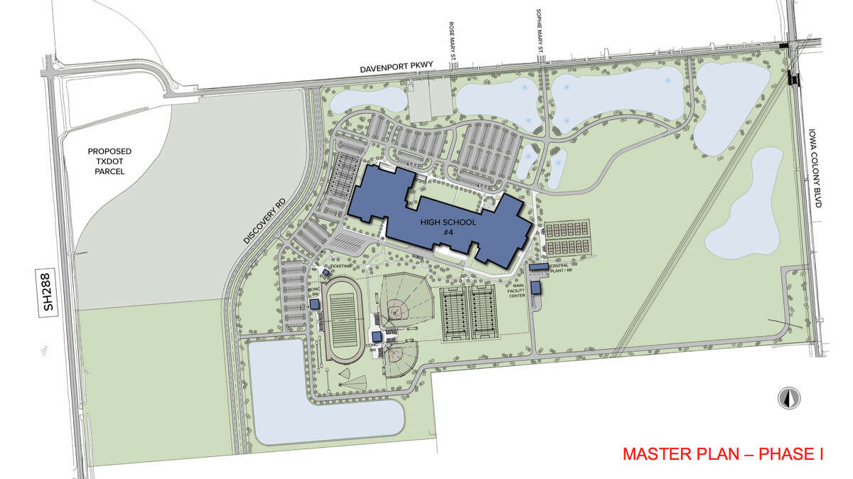 Alvin ISD released the location for and renderings of the district's fourth high school on Dec. 12, 2018. The school is scheduled to open to students by spring 2022.