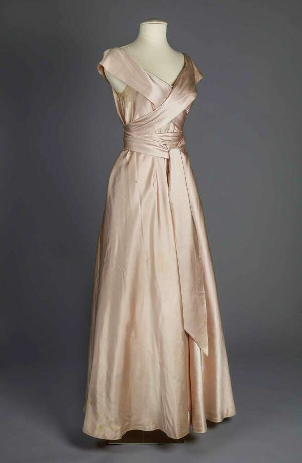 A pale pink silk evening gown made and worn by Claire McCardell in the 1940s. Photo: Photo Courtesy Of Maryland Historical Society / Courtesy
