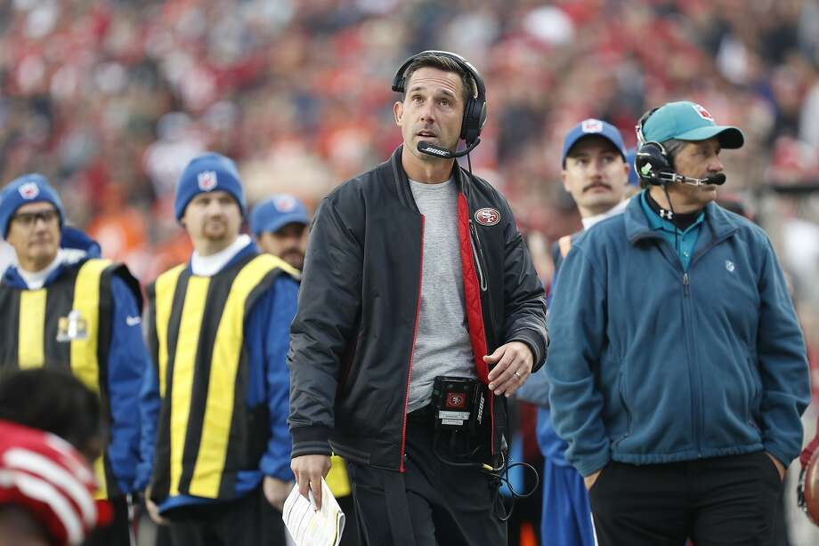 San Francisco 49ers head coach Kyle Shanahan on the sidelines during the second half of an NFL football game against the Denver Broncos Sunday, Dec. 9, 2018, in Santa Clara, Calif. (AP Photo/Josie Lepe) Photo: Josie Lepe / Associated Press