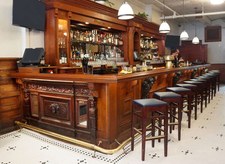 The bar at Mercantile Kitchen & Bar in Saratoga Springs. (Provided photo.)
