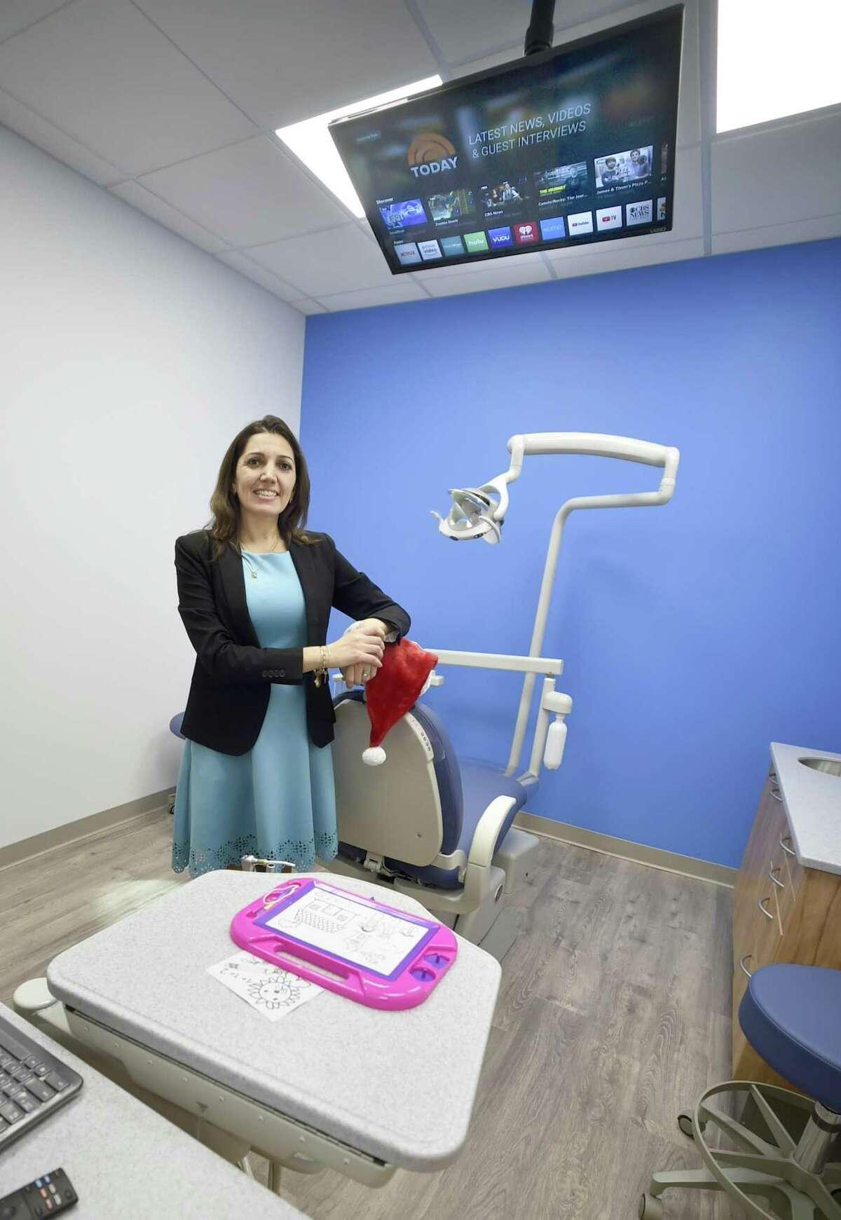 Pediatric Dentist Paula C. Cerqueira, DMD, in her new dental office, Orange Children's Dentistry on the Boston Post Road in Orange on Tuesday, Dec. 11, 2018.