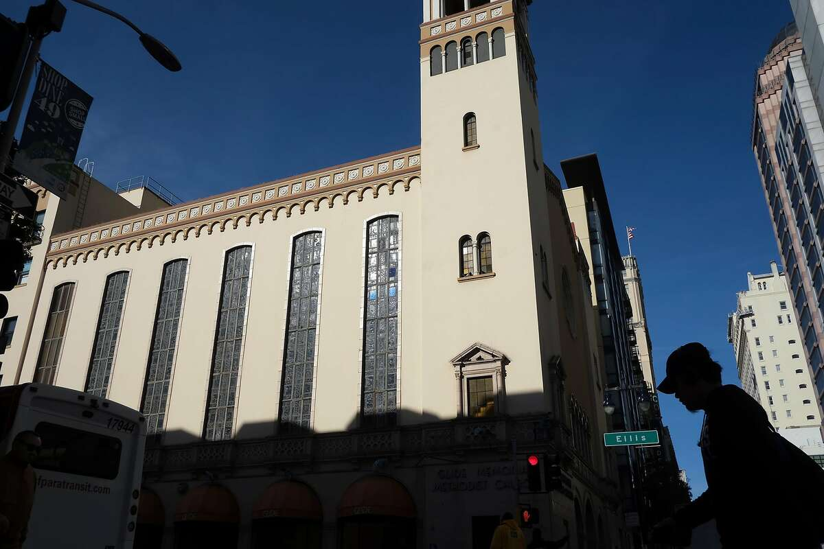 Glide Memorial Church is seen in San Francisco, California, on Wednesday, December 12, 2018. The United Methodist Church is suing Glide Memorial Church seeking a court order �preserving the UMC�s control over trust property in accordance with the original intent of Lizzie Glide, a devout Methodist who established a trust in 1929 for the express purpose of building a Methodist church for Christian witness and service in San Francisco in honor of her late husband.�