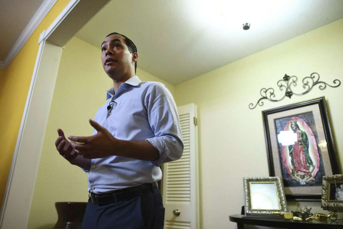 Julian Castro, former secretary of housing and urban development and former mayor of San Antonio, speaks about his plans to seek the Democratic Party nomination for president in 2020, during a press conference on Wednesday, Dec. 12, 2018.