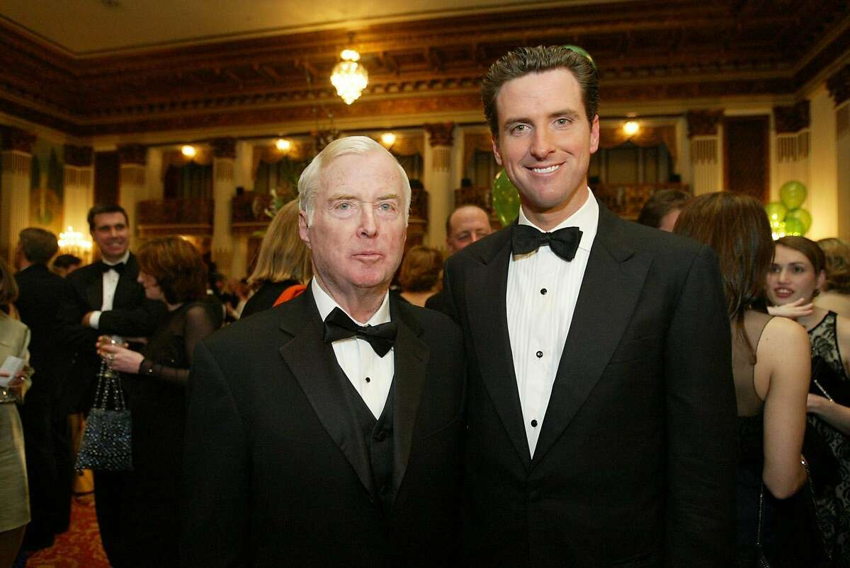Judge William Newsom and his son Mayor Gavin Newsom were both honored at the 20th Anniversary of the American Ireland Fund. Mayor Gavin Newsom was honored at this dinner at the St. Francis Hotel.
