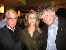 Judge William Newsom (left) with his daughter-in-law Jennifer Siebel Newsom and Gordon Getty. May 2010.