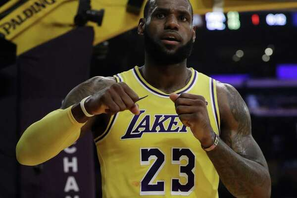 4604d23d0b27 1of6Los Angeles Lakers  LeBron James (23) during the first half of an NBA  basketball game against the Miami Heat Monday
