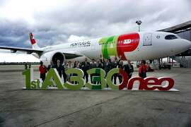 Celebrating the arrival of TAP's first Airbus A330-900neo