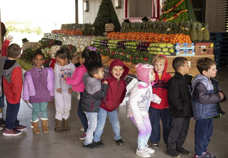 Children from the PreK4SA West Campus in San Antonio attend the eighth annual Harvest from the Heart campaign last week.. The harvest will provide fresh produce to families in need during the holiday season.