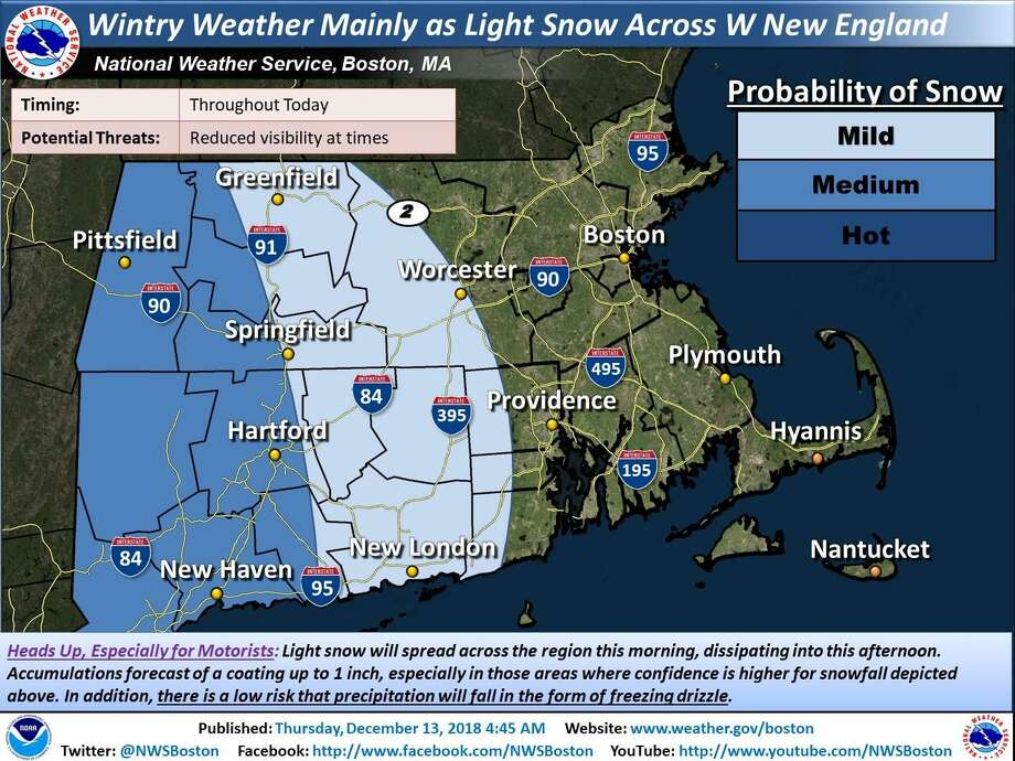 nws potential for some snow freezing rain in western conn