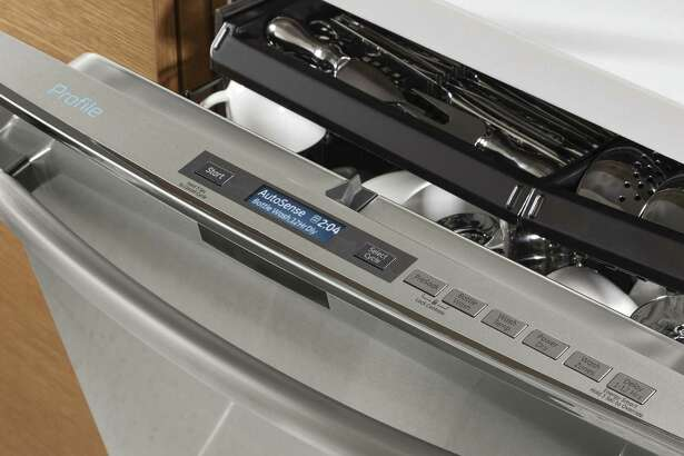 An Internet-enabled GE Appliances dishwasher. On Dec. 13, 2018, GE announced plans to spin off its software division that connects everyday devices to the Internet. (Photo via Businesswire)