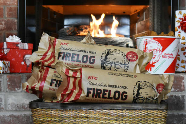 The unmistakable, mouth-watering aroma of Colonel Sanders' secret recipe - now in your fireplace with the KFC 11 Herbs & Spices Firelog.