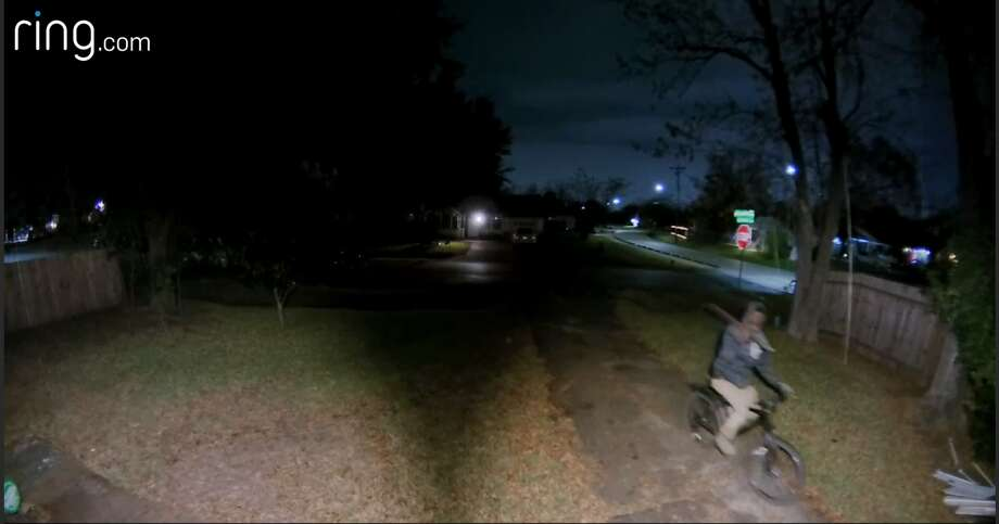 Recently a Ring door camera captured  a would be intruder apparently trying to break into a Houston home. Photo: Ring.com