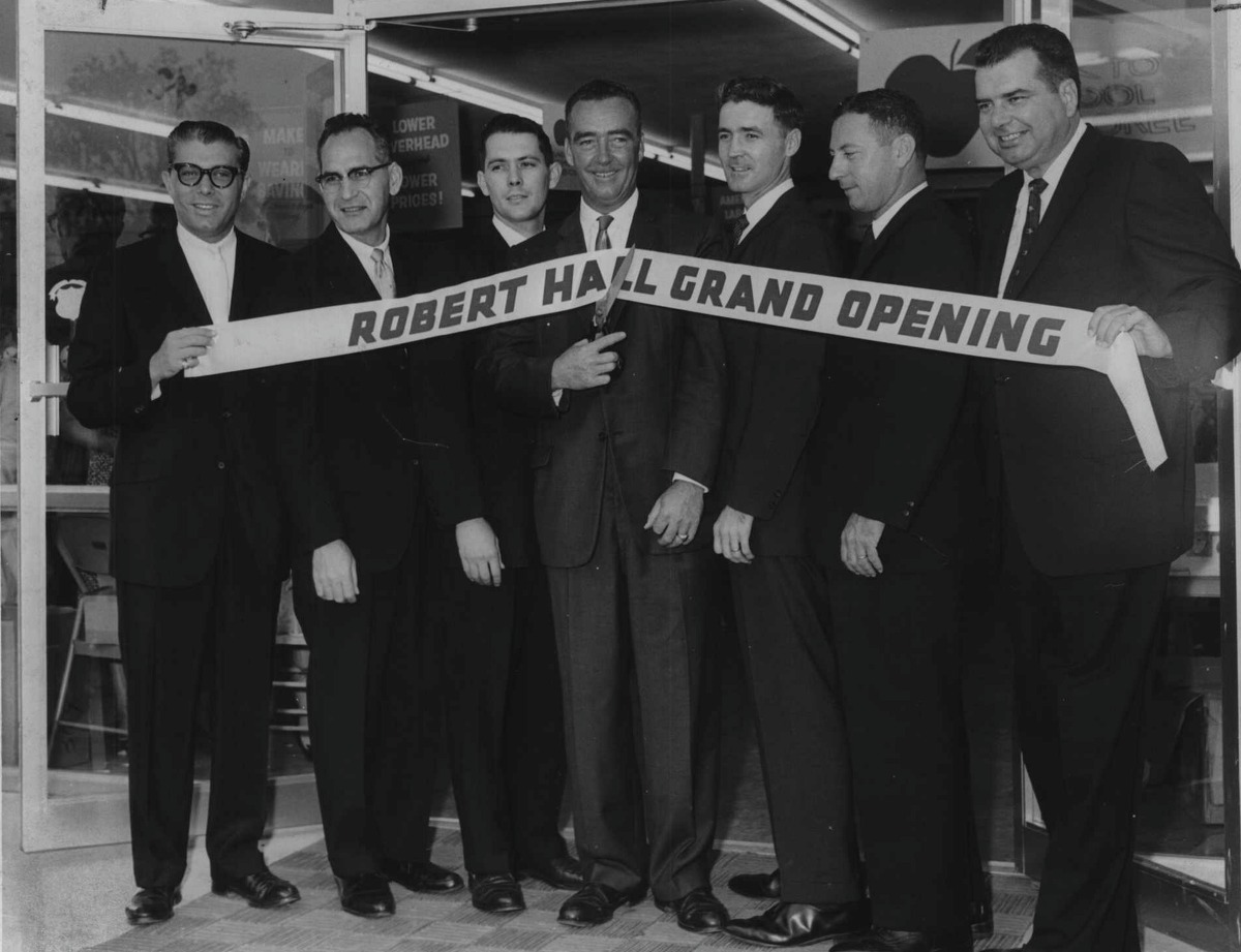 Click through the slideshow to see archival Times Union photos of Guilderland at work. Grand opening ceremony for Robert Hall Store, Guilderland, NY - Stan Pressler, District Supervisor, Buffalo; Paul Wagner, District Manager, Albany Area; William Looman, Assistant Store Manager; John E. King, Supervisor, Town of Guilderland; Douglas Wixted, Store Manager; Dan Handelsman, Regional Manager; William Schoninger, Merchandise Manager. August 24, 1961 (Bob Wilder/Times Union Archive)