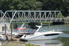 The William F. Cribari Memorial Bridge on a hot summer day.
