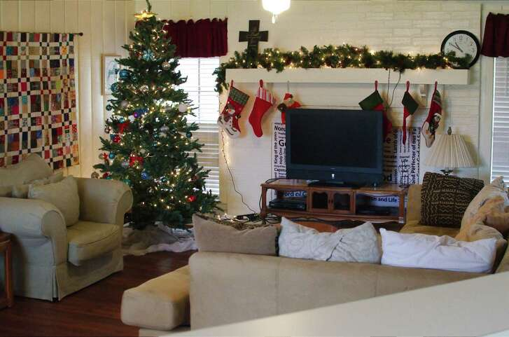 A living room area is available to families served through Family Promise of Clear Creek a day center.