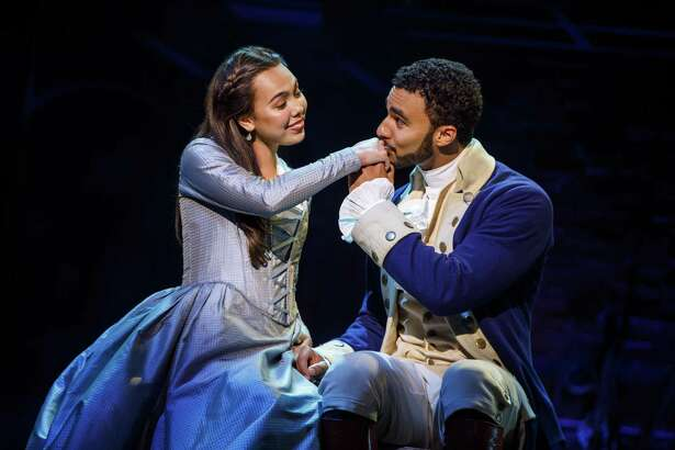 "Austin Scott and Julia K. Harriman in ""Hamilton."""