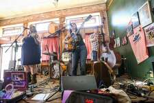 The Sophia Johnson Band performs during the Conroe Americana Music Festival on Saturday, May 6, 2017, at the Corner Pub in downtown Conroe.