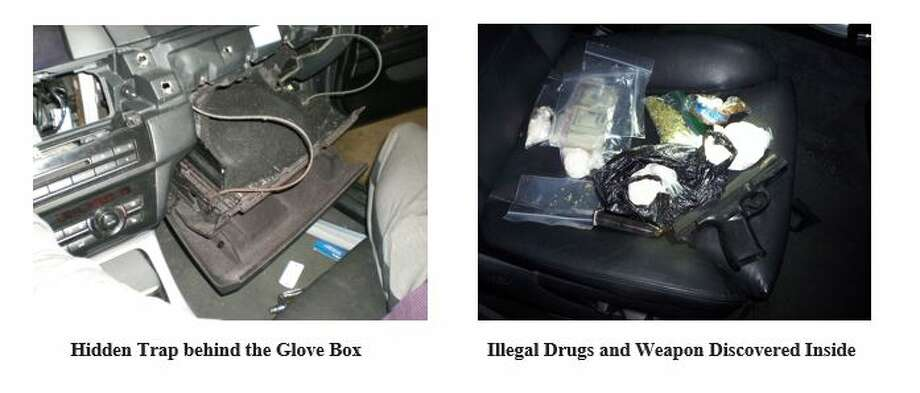 A weapon and the drugs recovered from Kalabakas' car. Photo: Duran, Nicole, Albany County DA