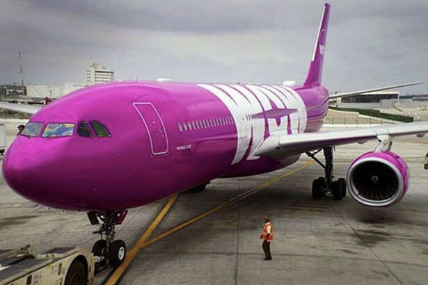 Low-cost WOW Air uses wide-body Airbus A330s on its California routes.