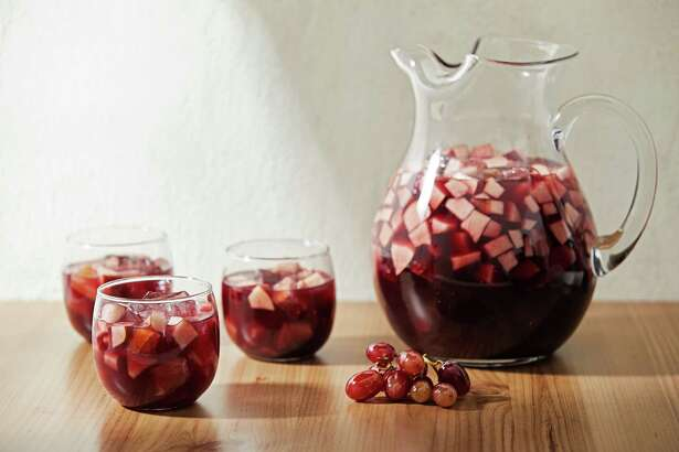 Holiday Red Sangria Punch. MUCH CREDIT: Photo by Tom McCorkle for The Washington Post.